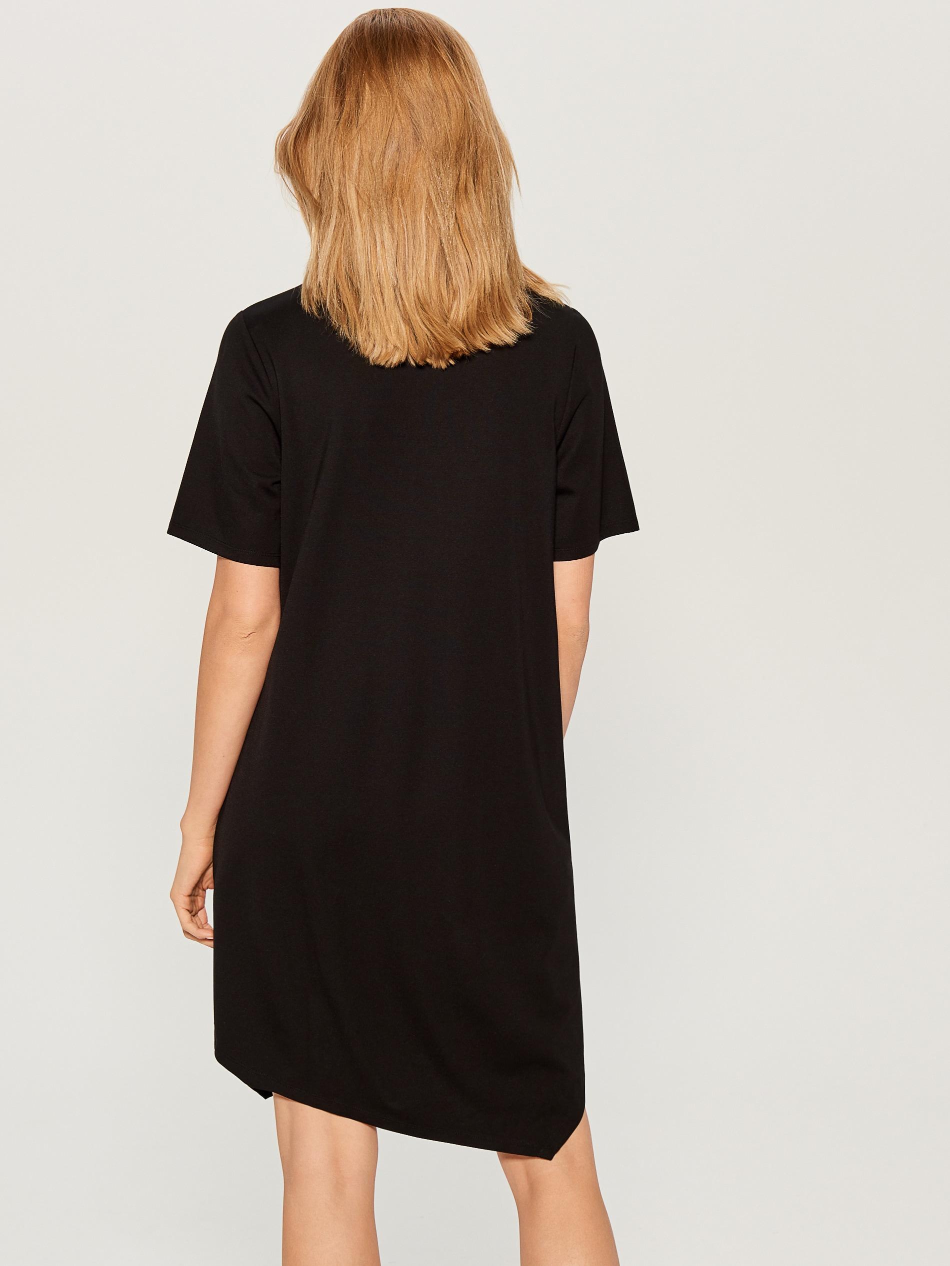 Asymetrické šaty s potiskem - černý - VS334-99X - Mohito - 3 c450b9730f3