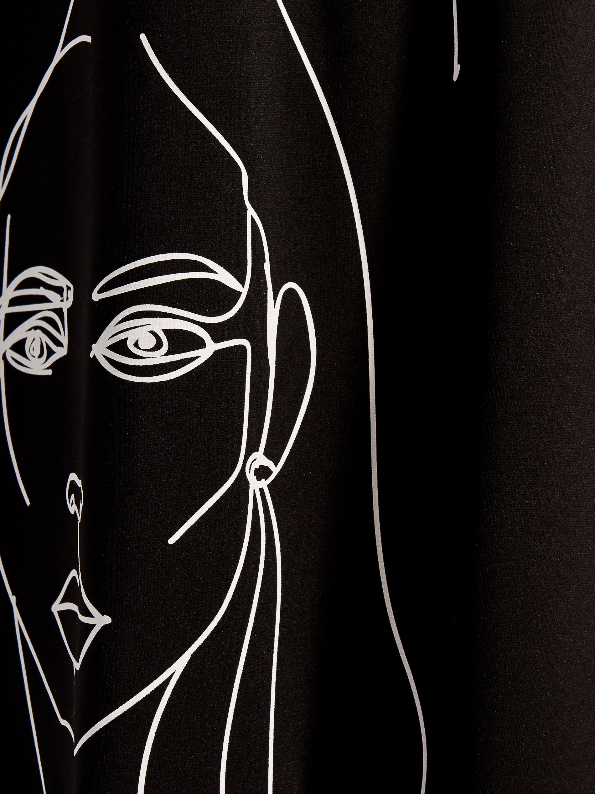 Asymetrické šaty s potiskem - černý - VS334-99X - Mohito - 4 d04b8759bd2