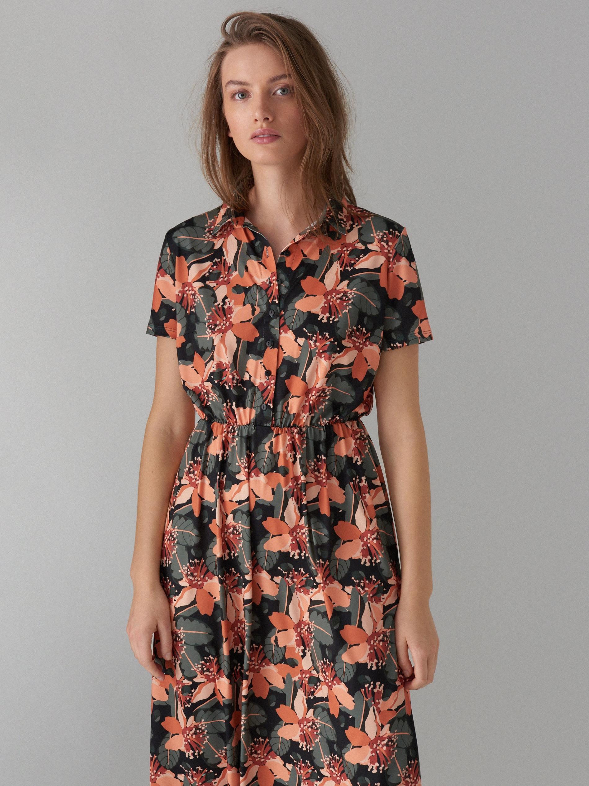Košilové květované šaty - zelená - WF485-87P - Mohito - 3 6242ef4b1b3