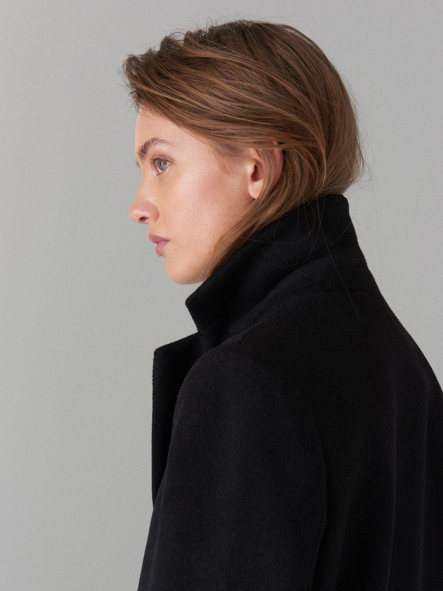 Kabát ze směsi vlny - černý - VA421-99X - Mohito - 3