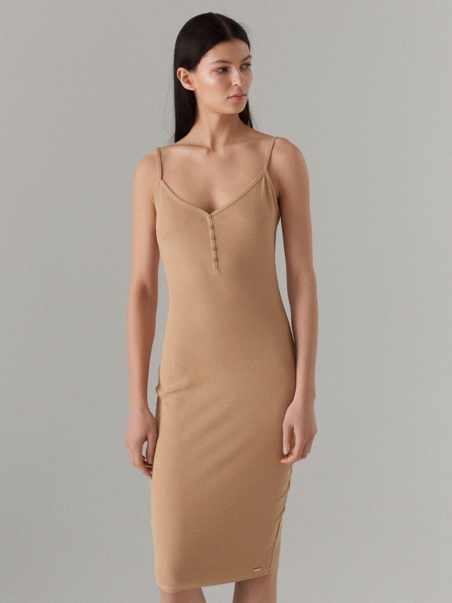 LADIES` DRESS - krémová - VV972-02X - Mohito - 3