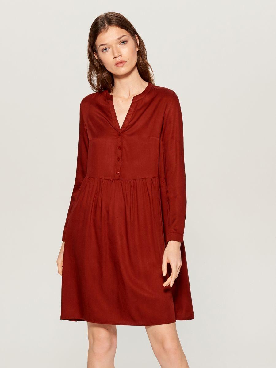 Košilové šaty - hnědá - WA242-88X - Mohito - 1