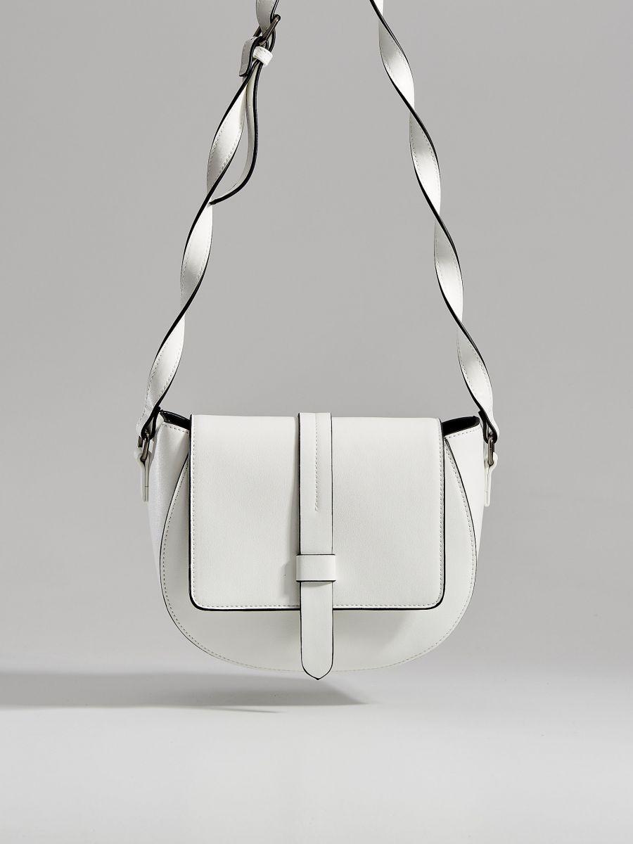 Kabelka saddle bag sdlouhým popruhem  - bílá - WB130-00X - Mohito - 2
