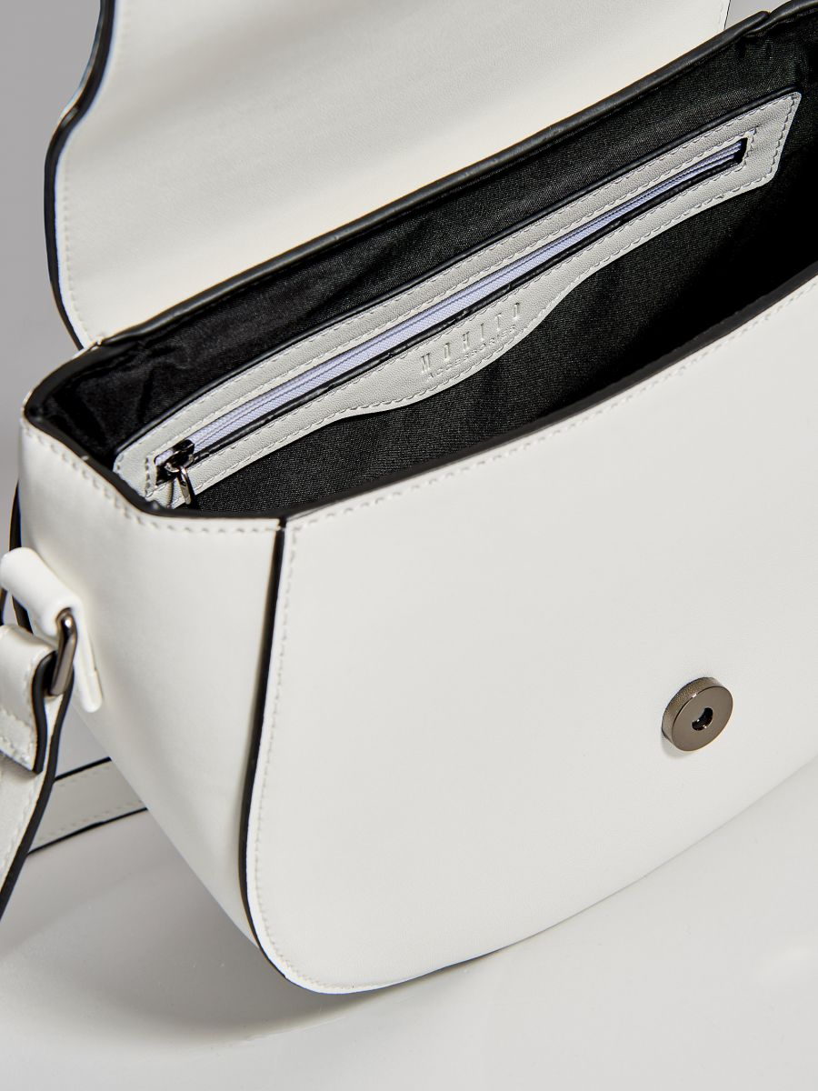 Kabelka saddle bag sdlouhým popruhem  - bílá - WB130-00X - Mohito - 4