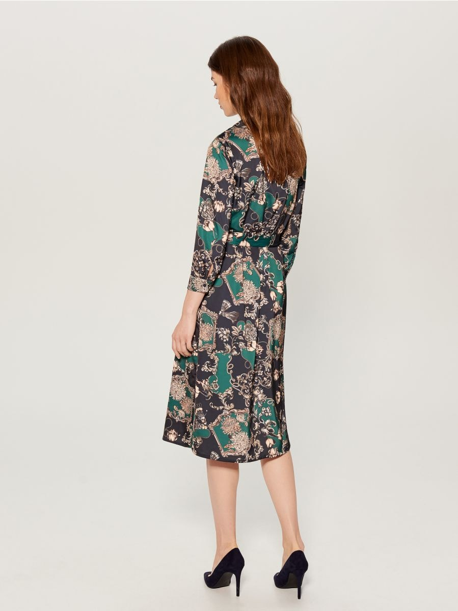 Košilové šaty spotiskem - zelená - WB268-79P - Mohito - 5