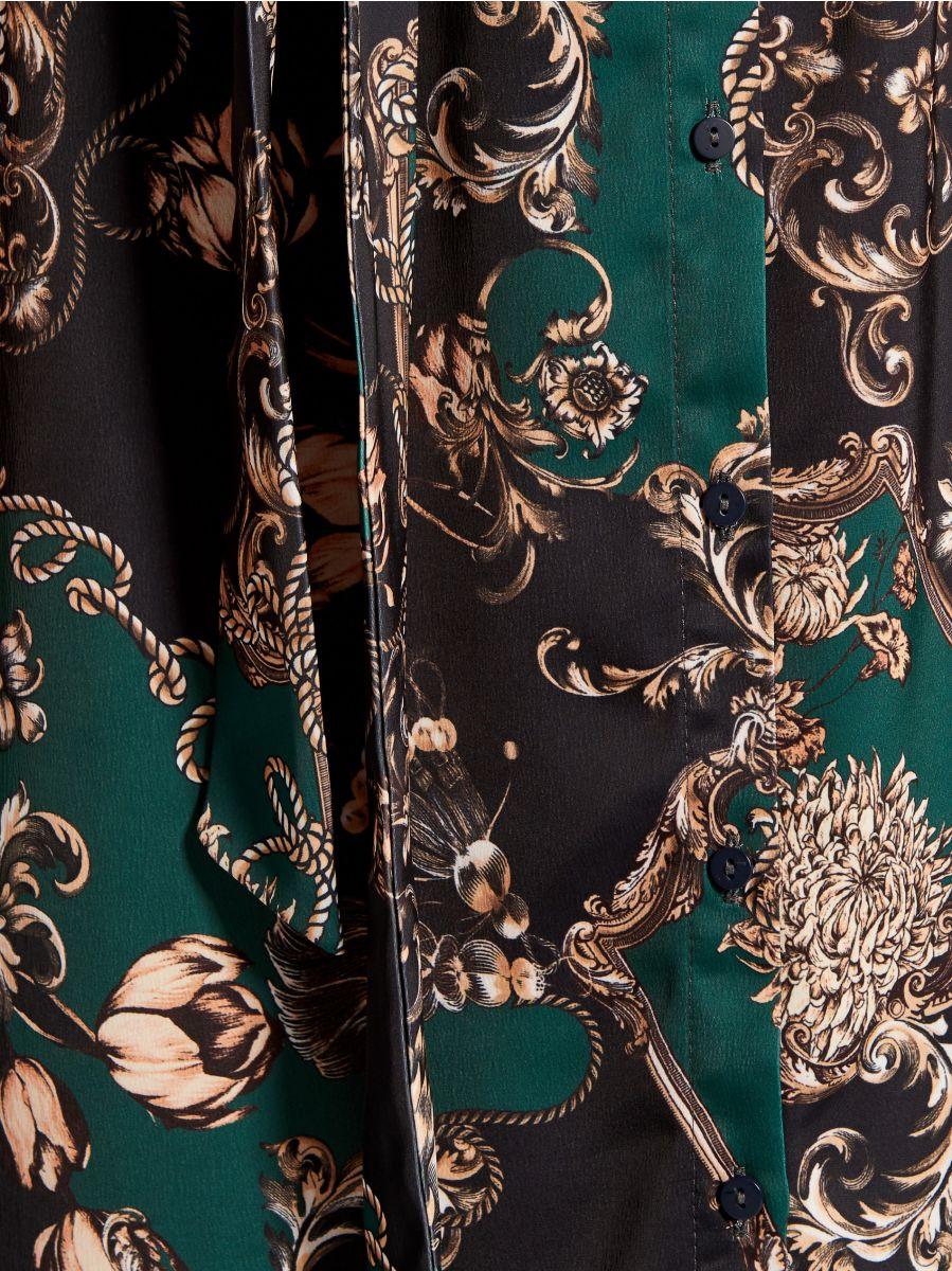 Košilové šaty spotiskem - zelená - WB268-79P - Mohito - 6