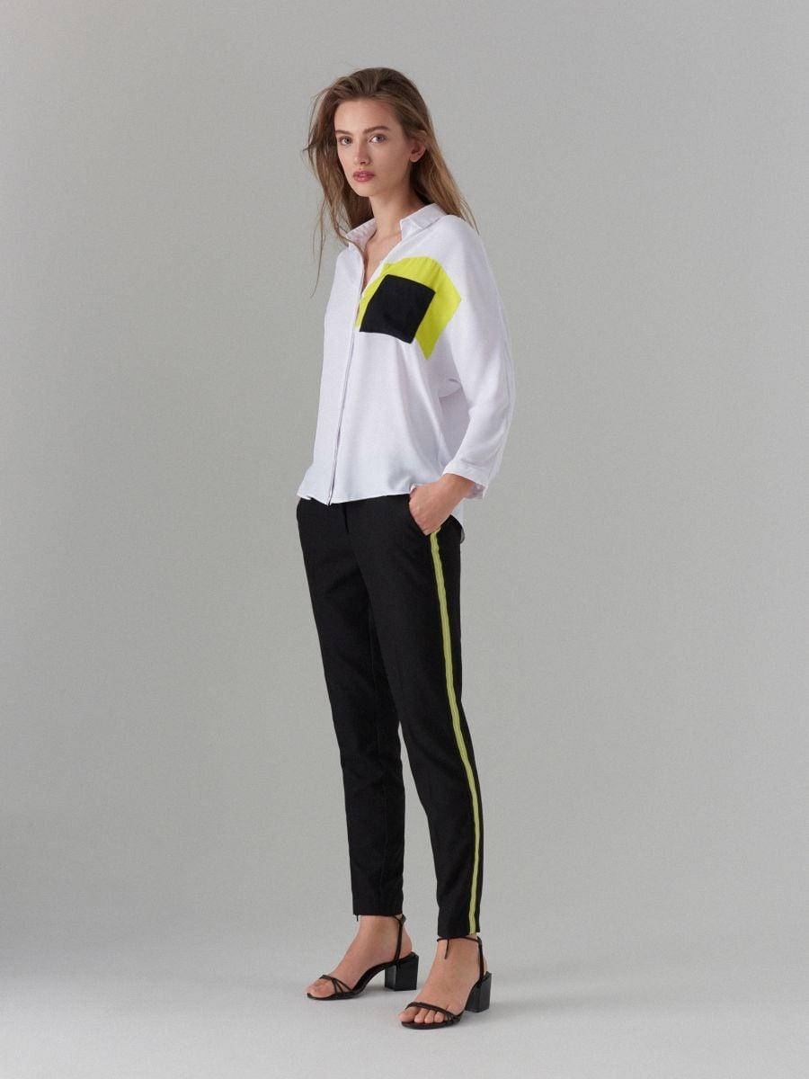 Košile sbarevnými bloky Fluo - bílá - WE185-00X - Mohito - 2