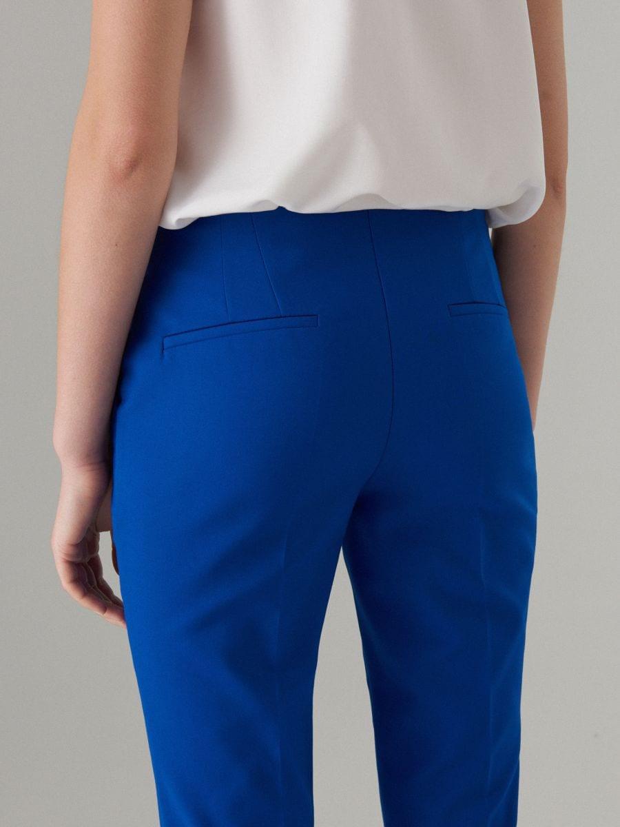 Cigaretové kalhoty - tmavomodrá - WM784-59X - Mohito - 5