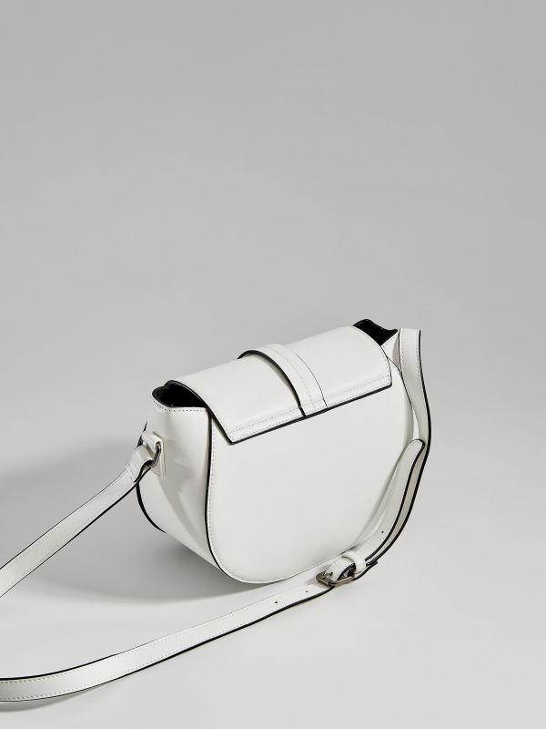 Kabelka saddle bag sdlouhým popruhem  - bílá - WB130-00X - Mohito - 3