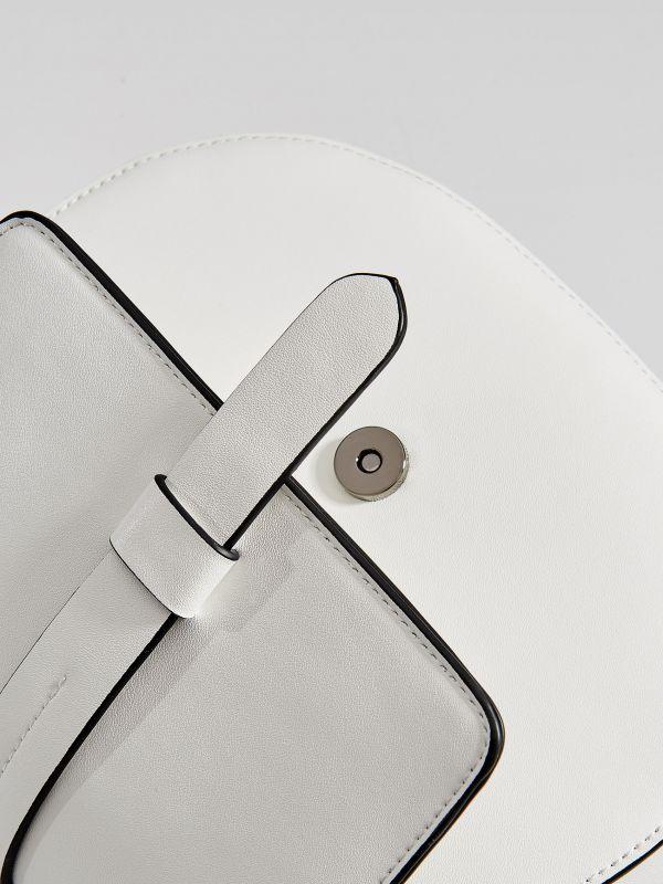 Kabelka saddle bag sdlouhým popruhem  - bílá - WB130-00X - Mohito - 5