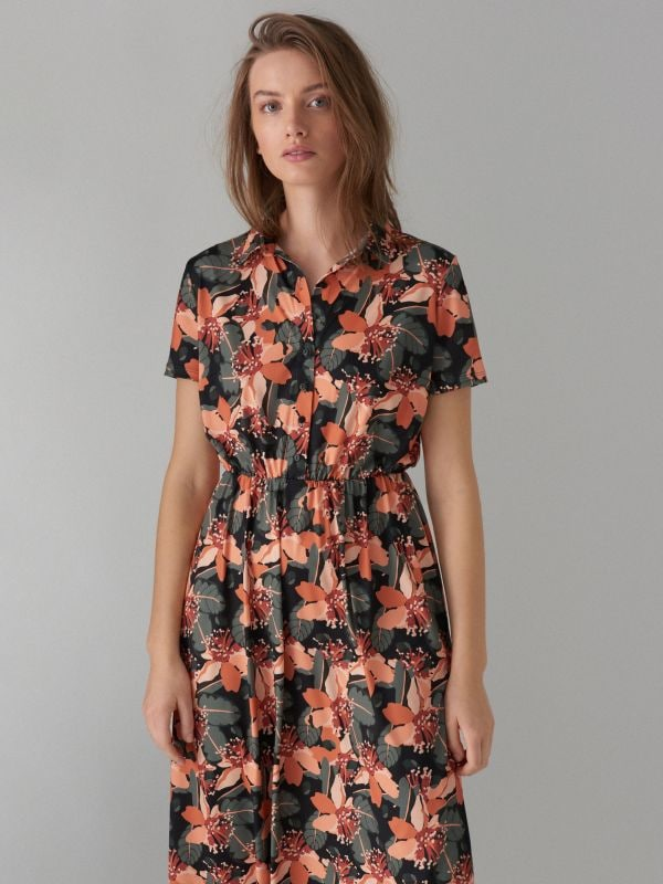 ... Košilové květované šaty - zelená - WF485-87P - Mohito - 3 ... 0e50f4fb7fe