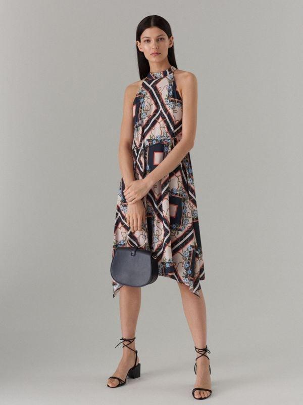 Šaty s výstřihem halter - černý - WS534-99P - Mohito - 1