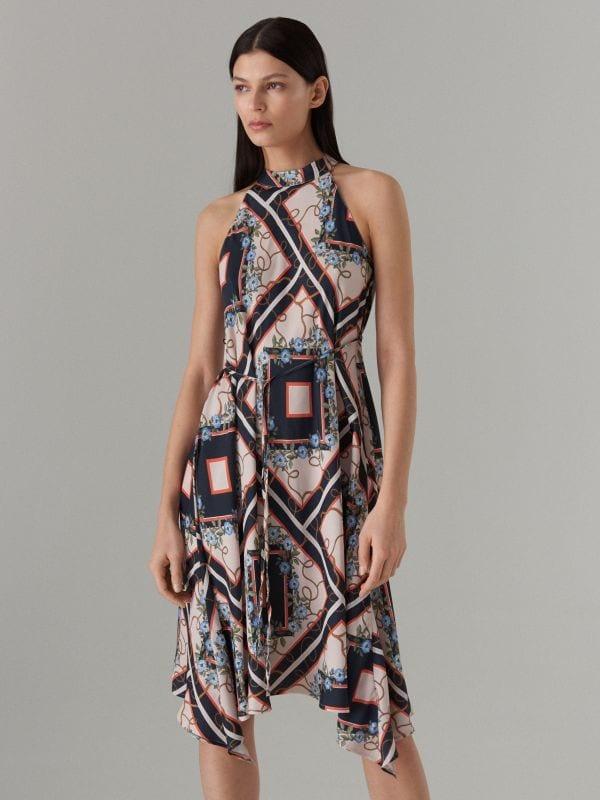 Šaty s výstřihem halter - černý - WS534-99P - Mohito - 3