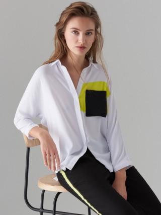 Košile sbarevnými bloky Fluo