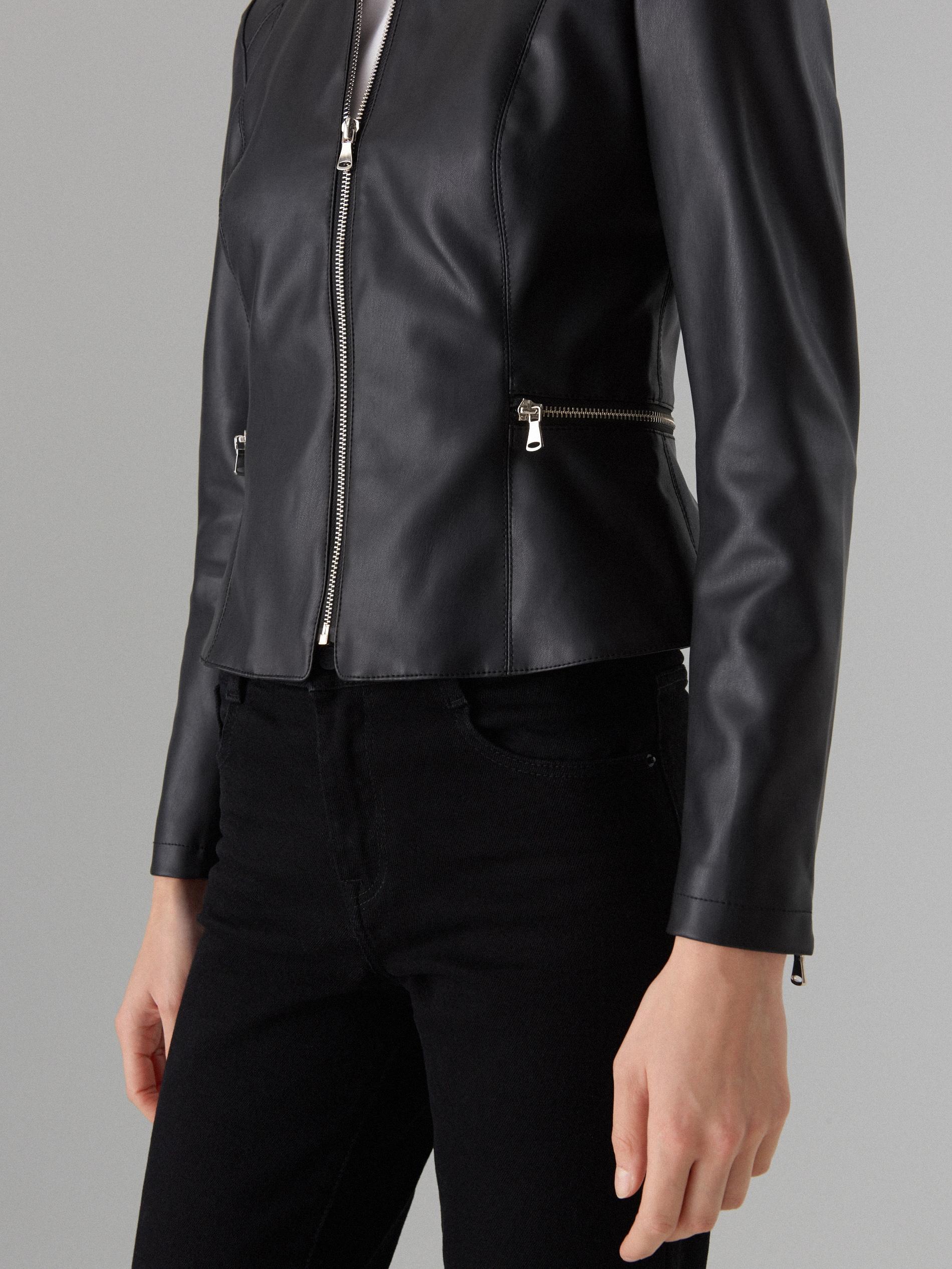 Koženková bunda - čierna - VC050-99X - Mohito - 6 51149dfda58