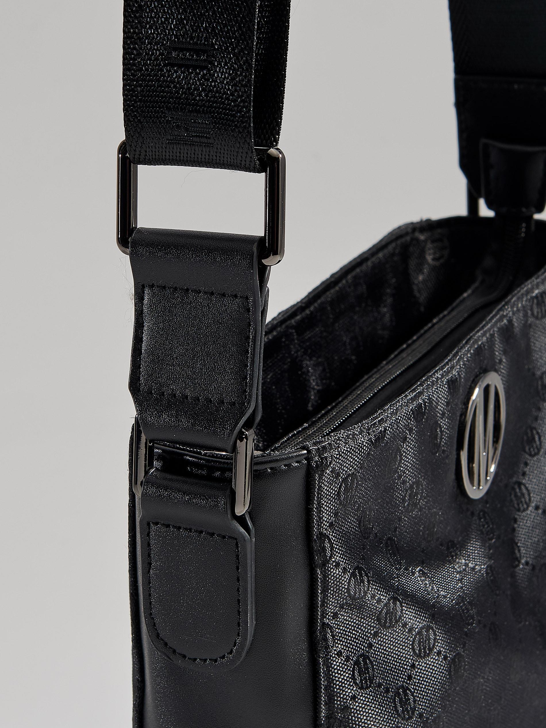 445506afbc3b0 Torebka na ramię z łączonych materiałów - czarny - VV536-99X - Mohito - 4