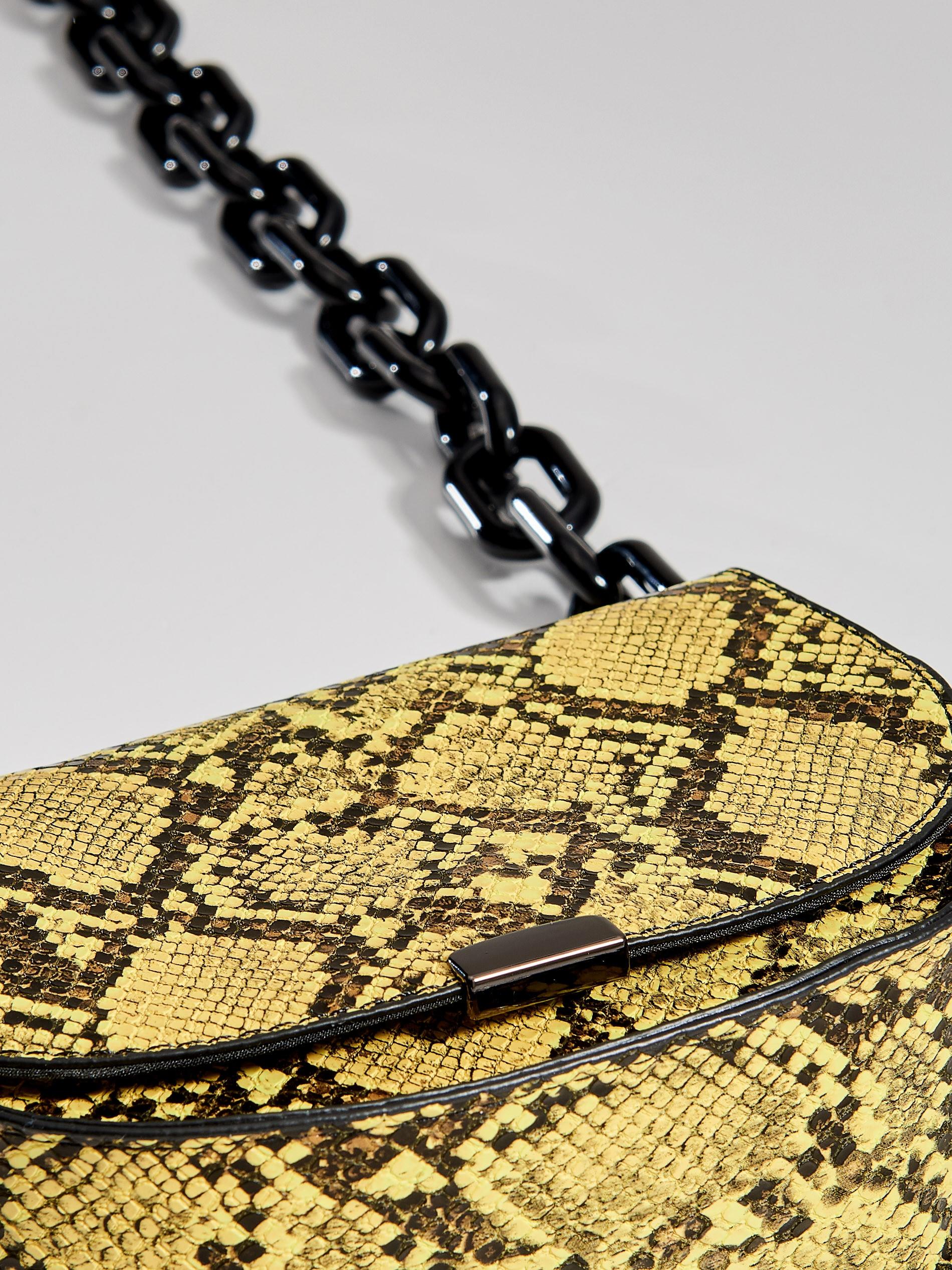 e6762285a0737 Torebka saddle bag z imitacji wężowej skóry Gold Label - wielobarwny -  WF267-MLC -
