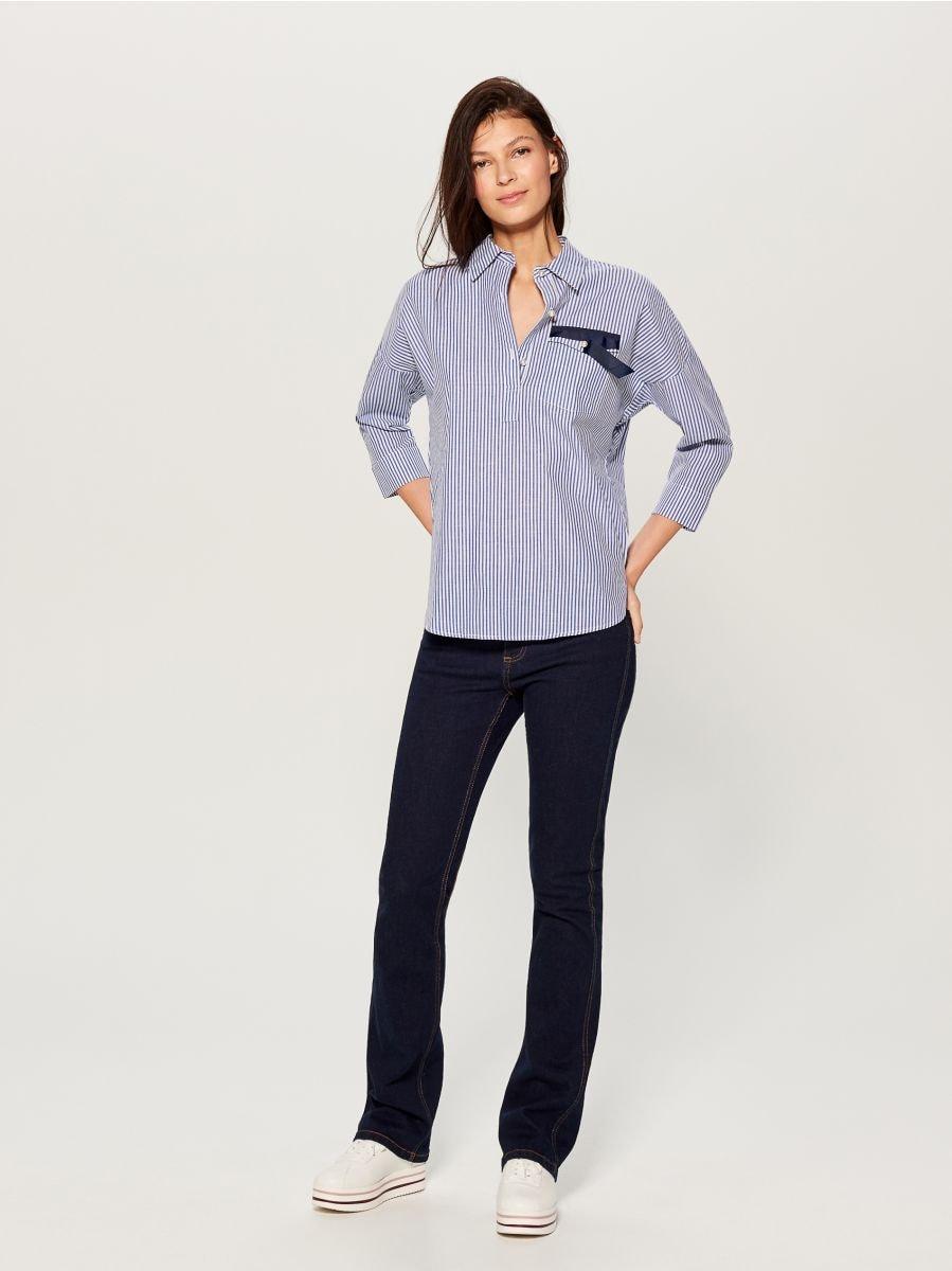 Svītrains krekls - zils - UF420-05X - Mohito - 1