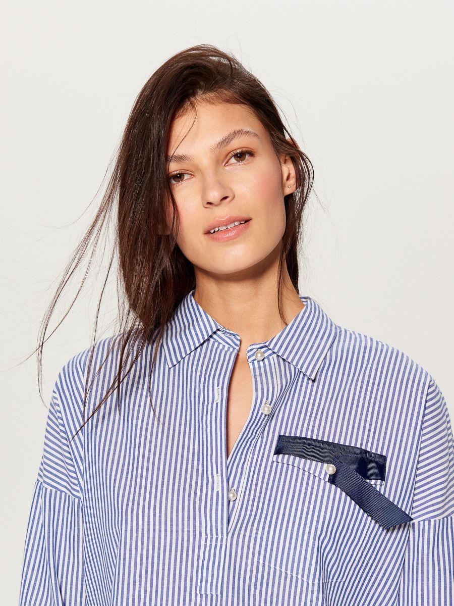 Svītrains krekls - zils - UF420-05X - Mohito - 3