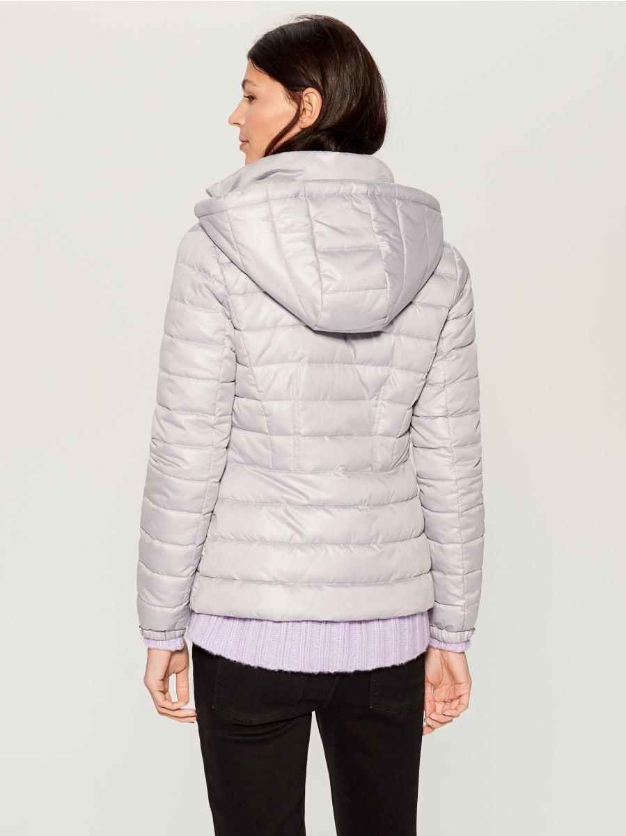 Stepēta jaka ar kapuci - gaiši pelēks - UN247-09X - Mohito - 4