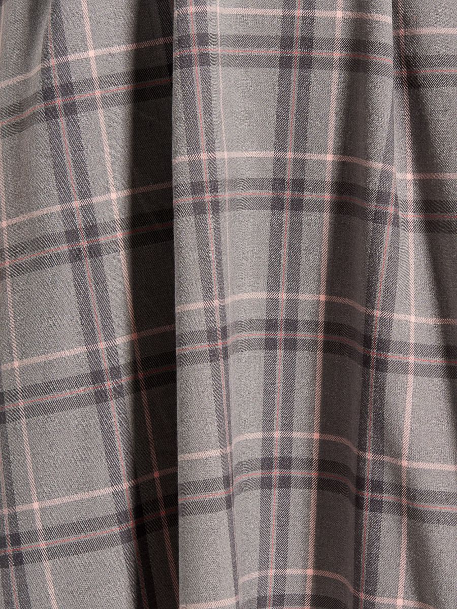 Midi garuma kleita ar sasienamu jostu vidukļa daļā - pelēks - UX457-09P - Mohito - 5