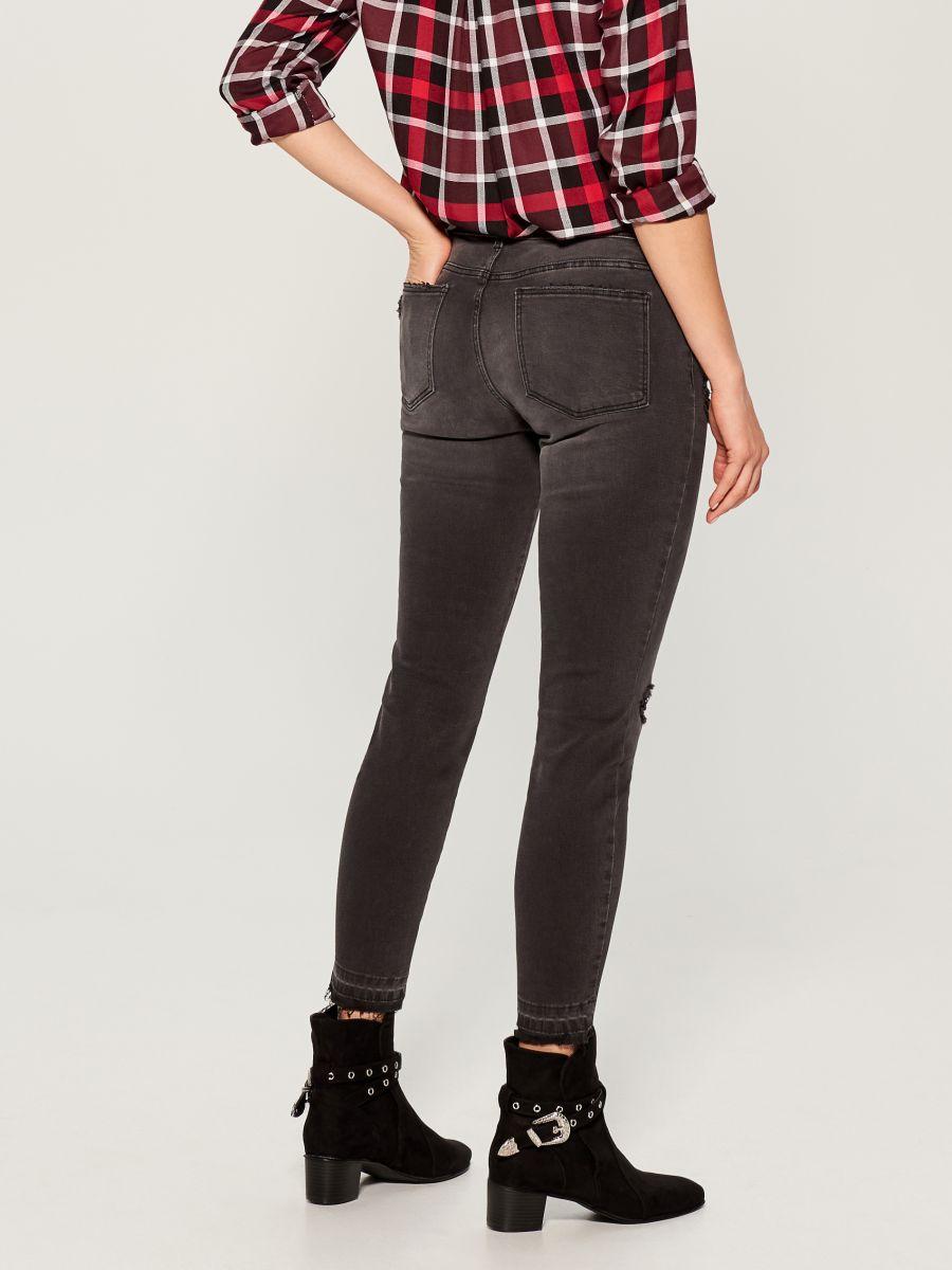 Džinsa bikses high waist skinny fit - pelēks - VA806-90J - Mohito - 4