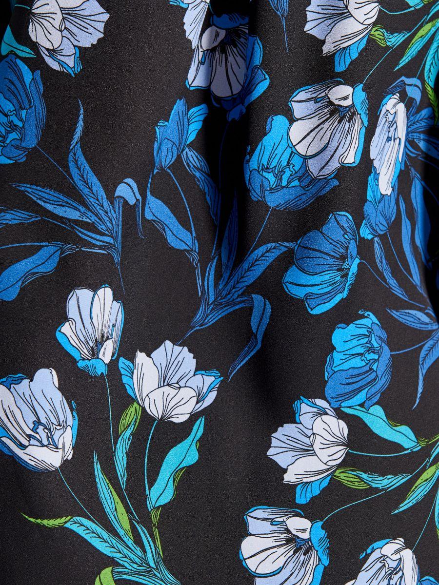 Krekls ar smalku rakstu - zils - VB653-99P - Mohito - 5