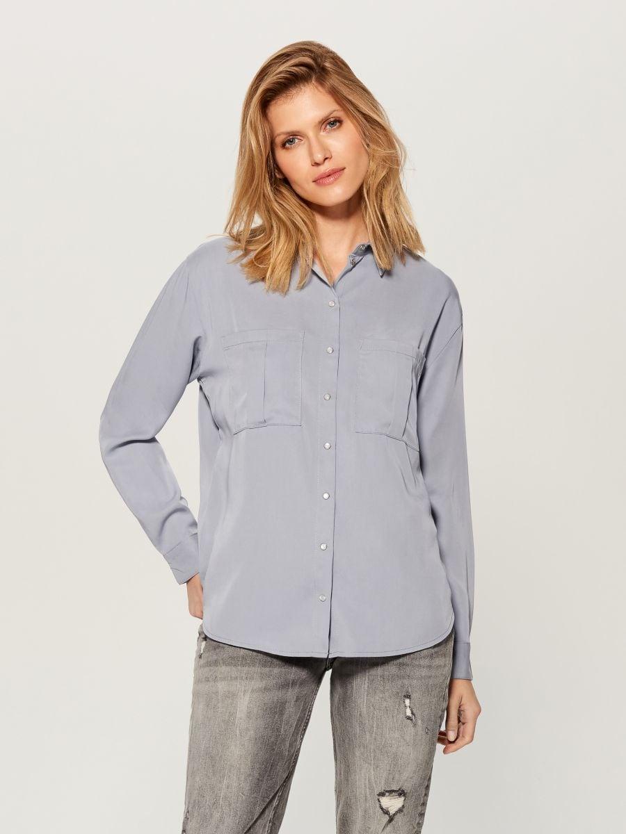 Liocela krekls - zils - VB654-05X - Mohito - 3