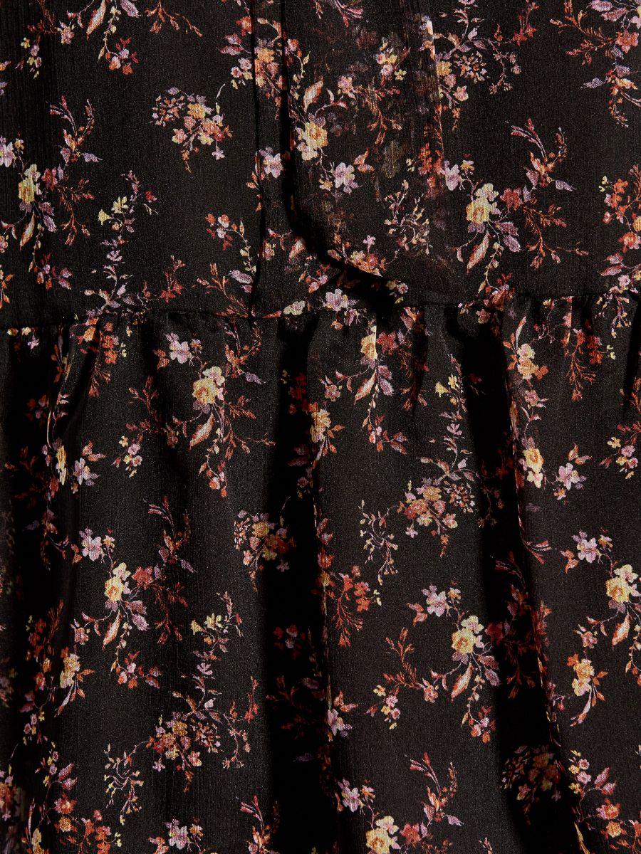 Blūze ar sienamu dekoltē - melns - VB660-99P - Mohito - 5