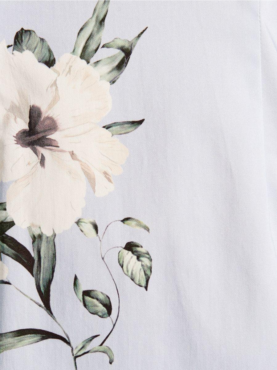 Kleita ar ziedu rakstu - zils - VD927-05P - Mohito - 5