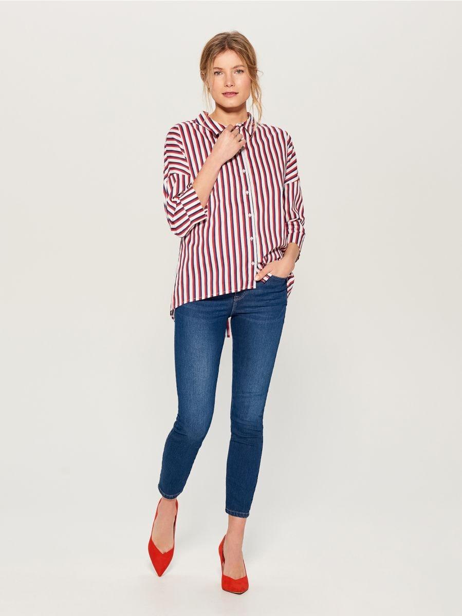 Džinsa bikses high waist skinny fit - tumši zils - VG897-59J - Mohito - 3