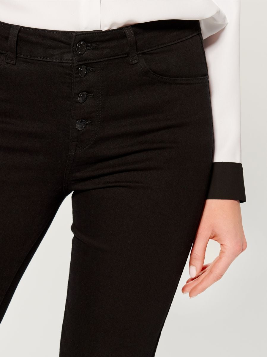 Džinsa bikses high waist skinny fit - melns - VG897-99J - Mohito - 3