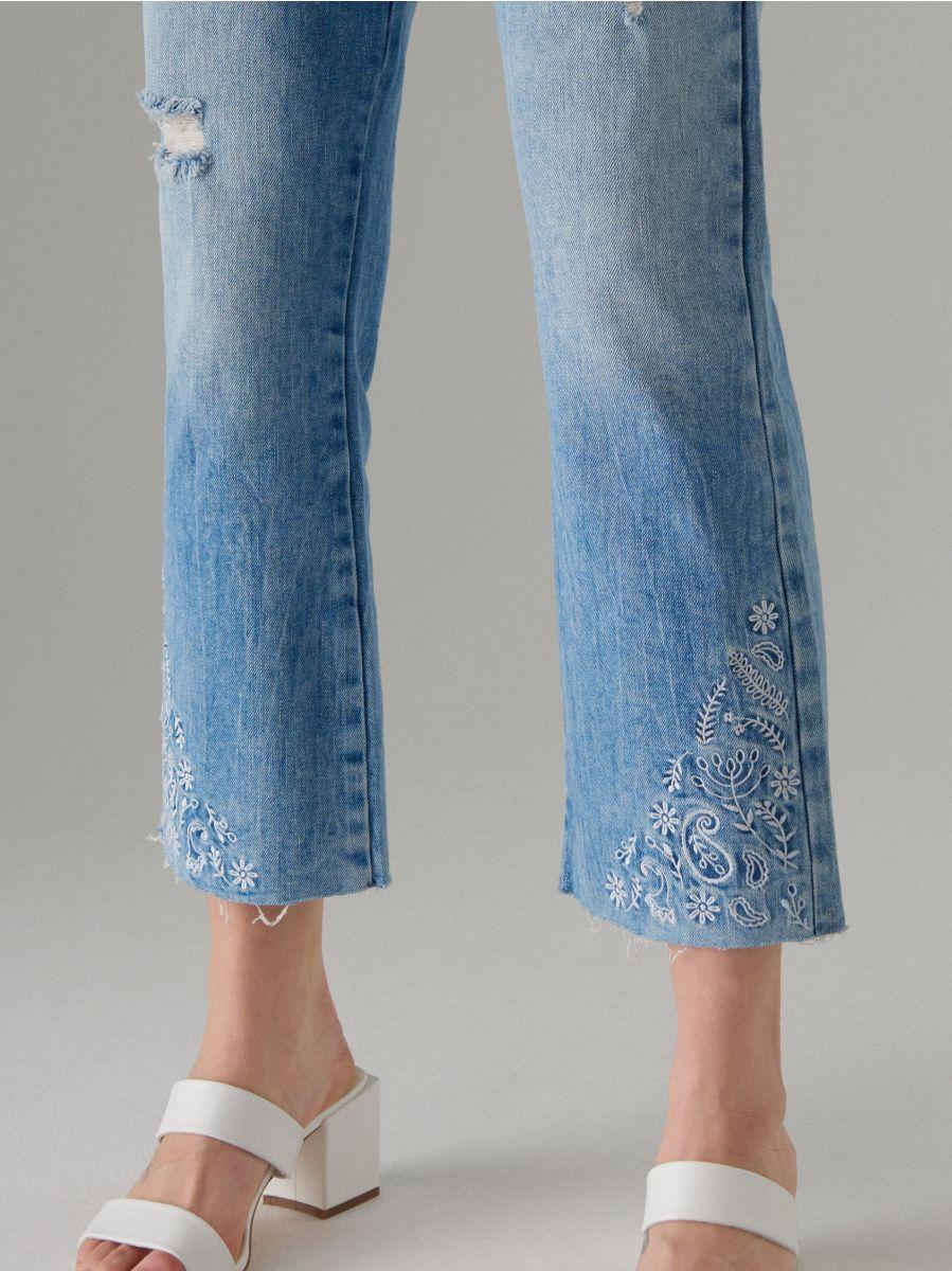 Īsas džinsa bikses bootcut  - zils - VJ219-05J - Mohito - 2