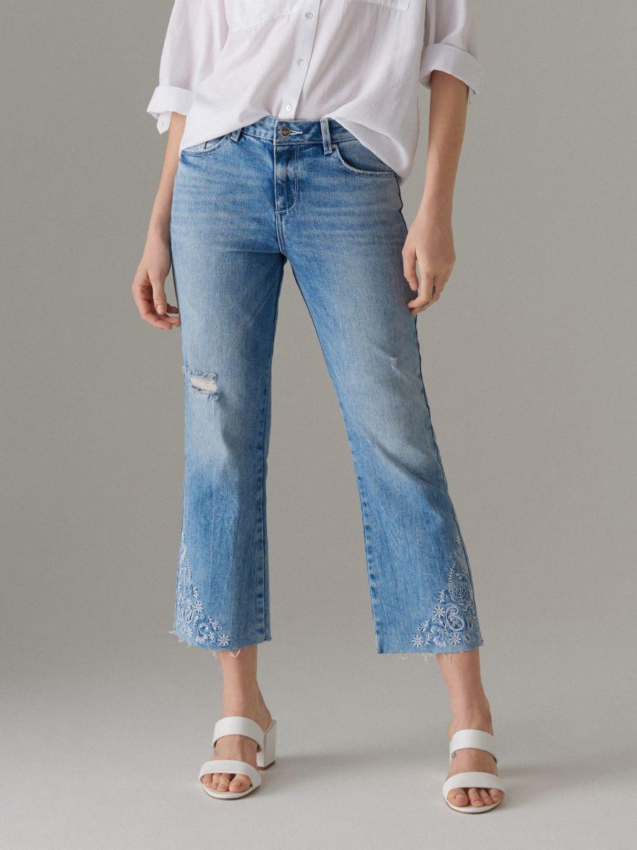 Īsas džinsa bikses bootcut  - zils - VJ219-05J - Mohito - 3