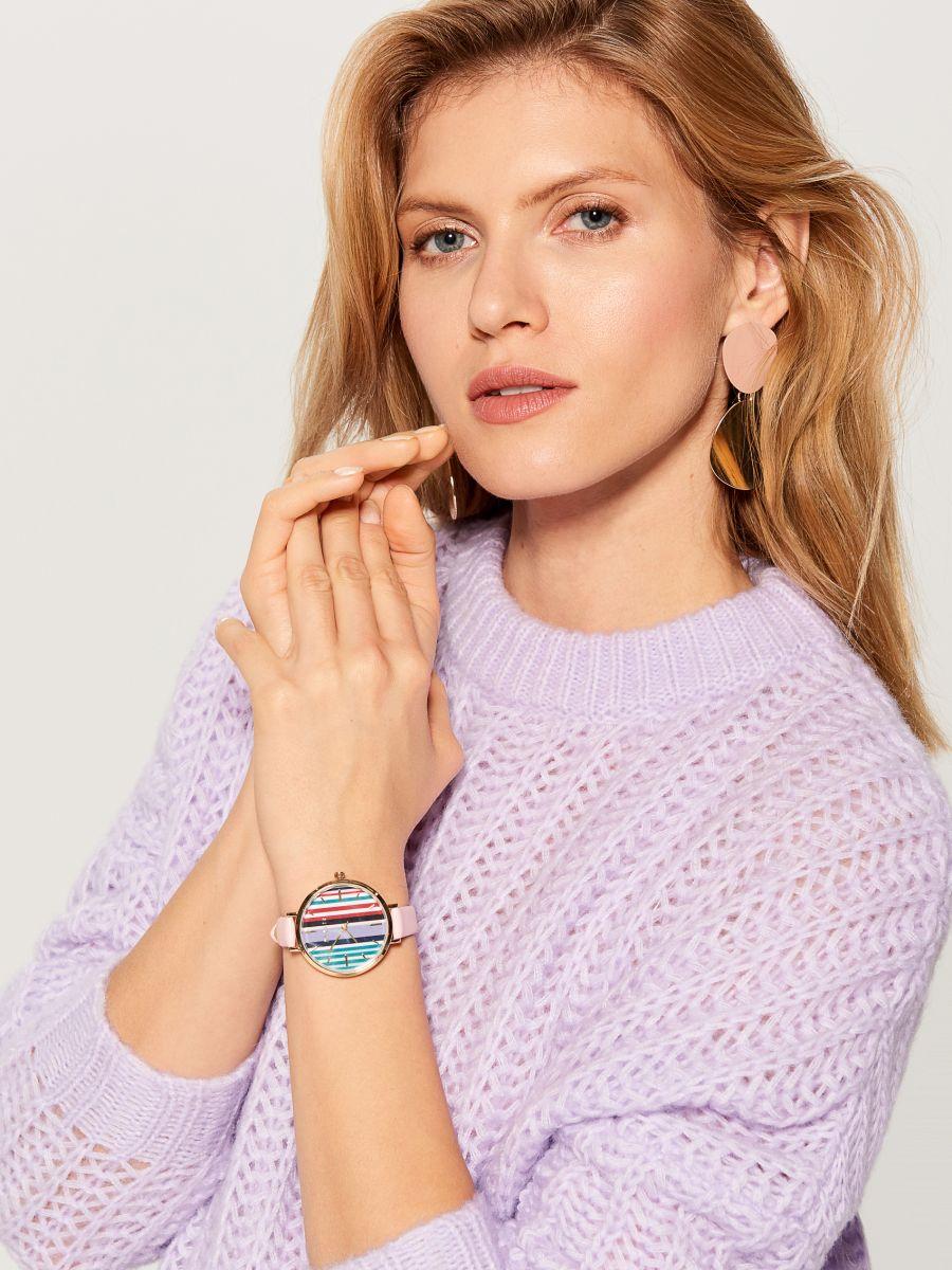 OVERSIZE džemperis ar augstu apkakli - violets - VL220-04X - Mohito - 3