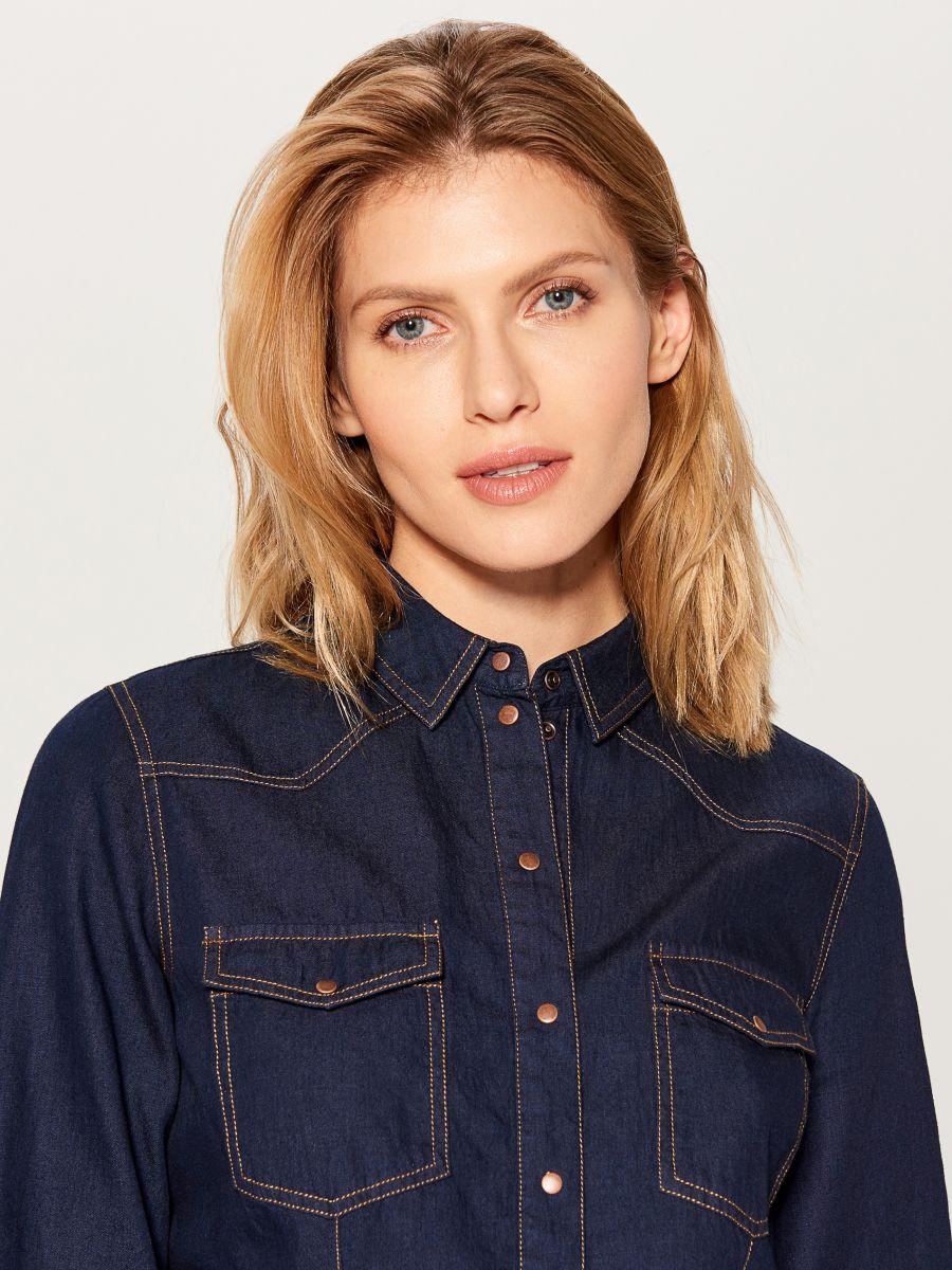 Džinsa krekls - zils - VM575-95X - Mohito - 2