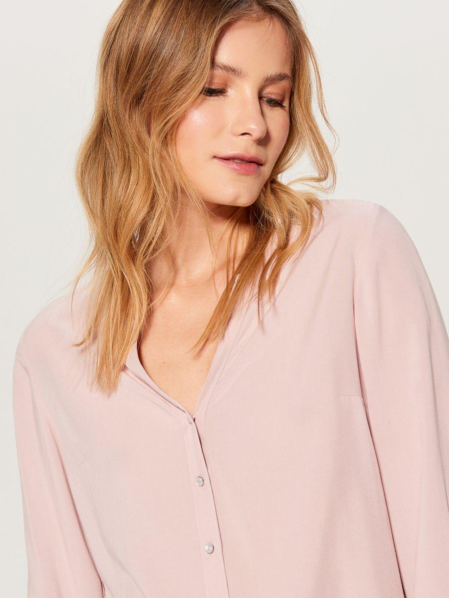 Krekls ar trīsceturtdaļu garuma piedurknēm  - rozā - VN056-39X - Mohito - 2