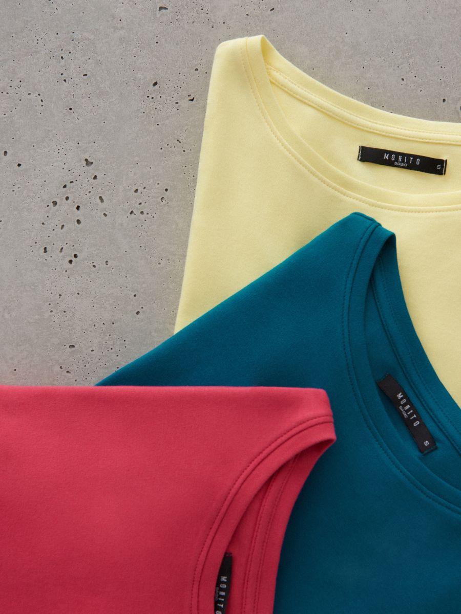 Kokvilnas T-krekls ar īsām piedurknēm  - rozā - VO216-03X - Mohito - 4