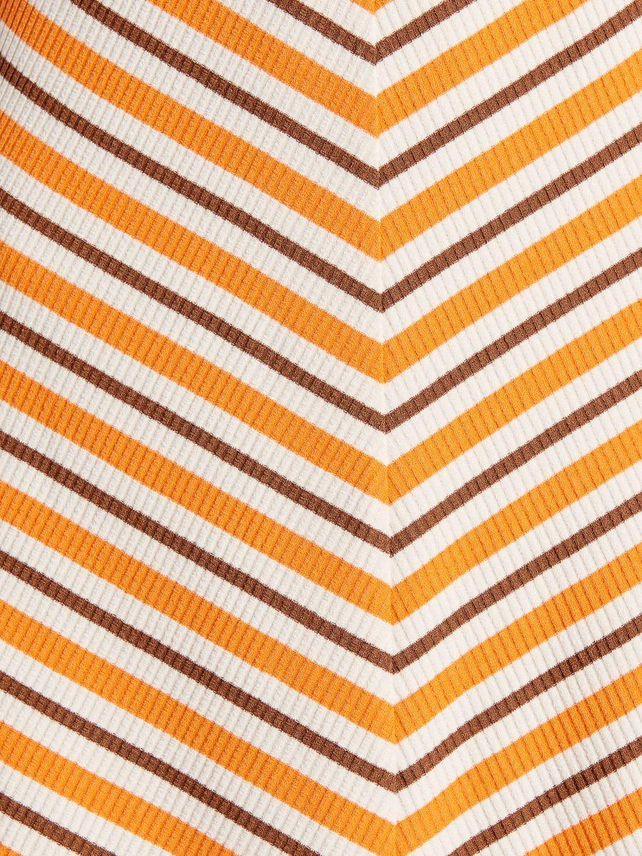 Kleita no svītrainas trikotāžas - dzeltens - VP570-90X - Mohito - 6