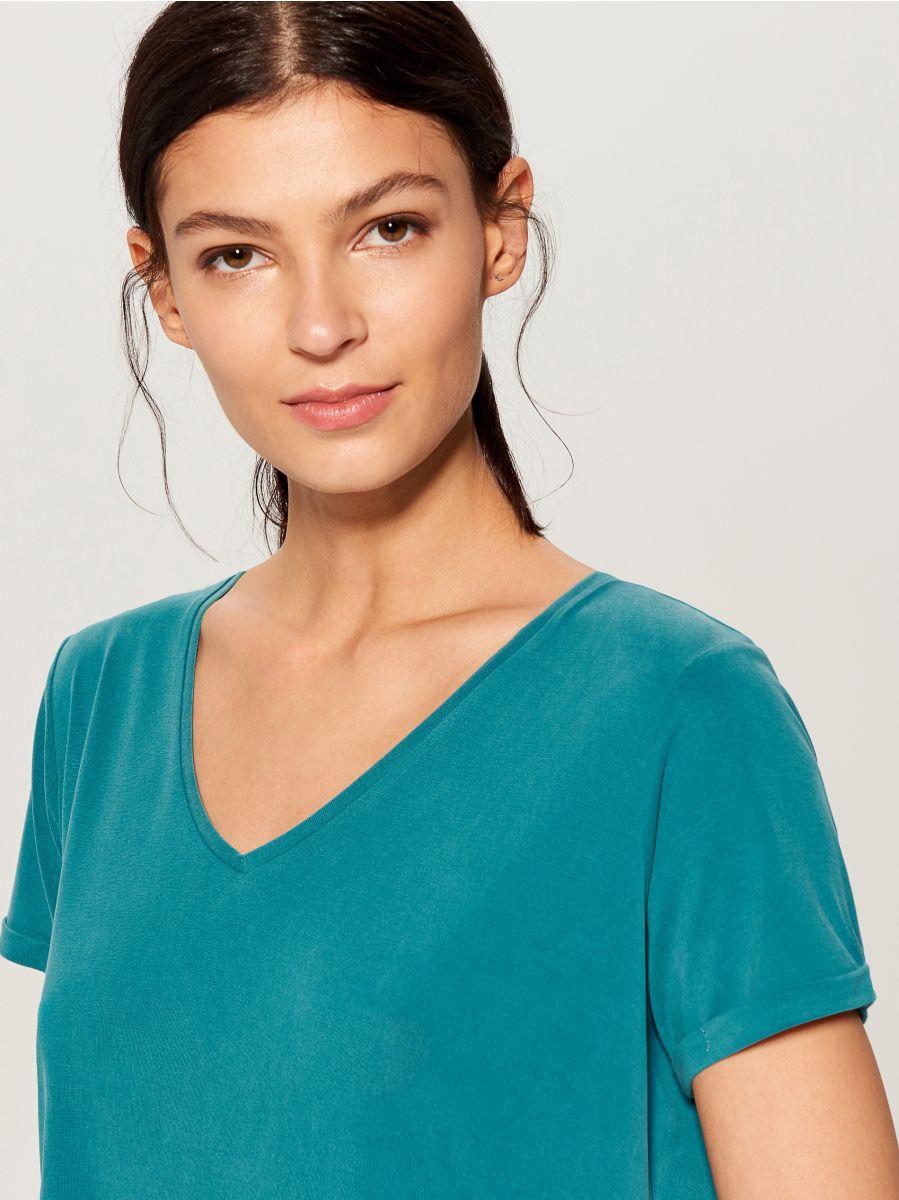 T-krekls Basic - tirkīza - VP614-66X - Mohito - 1