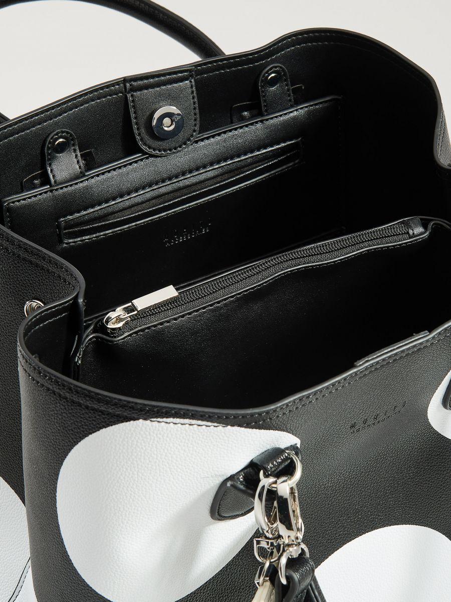 Shopper tipa soma ar breloku - melns - VP617-99X - Mohito - 3