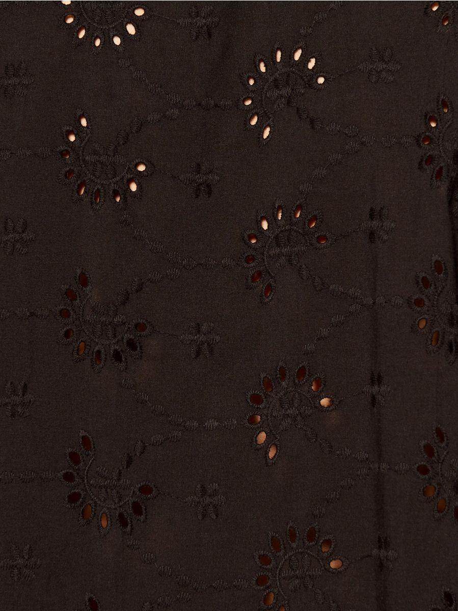 Blūze ar izšuvumiem - melns - VQ400-99X - Mohito - 5