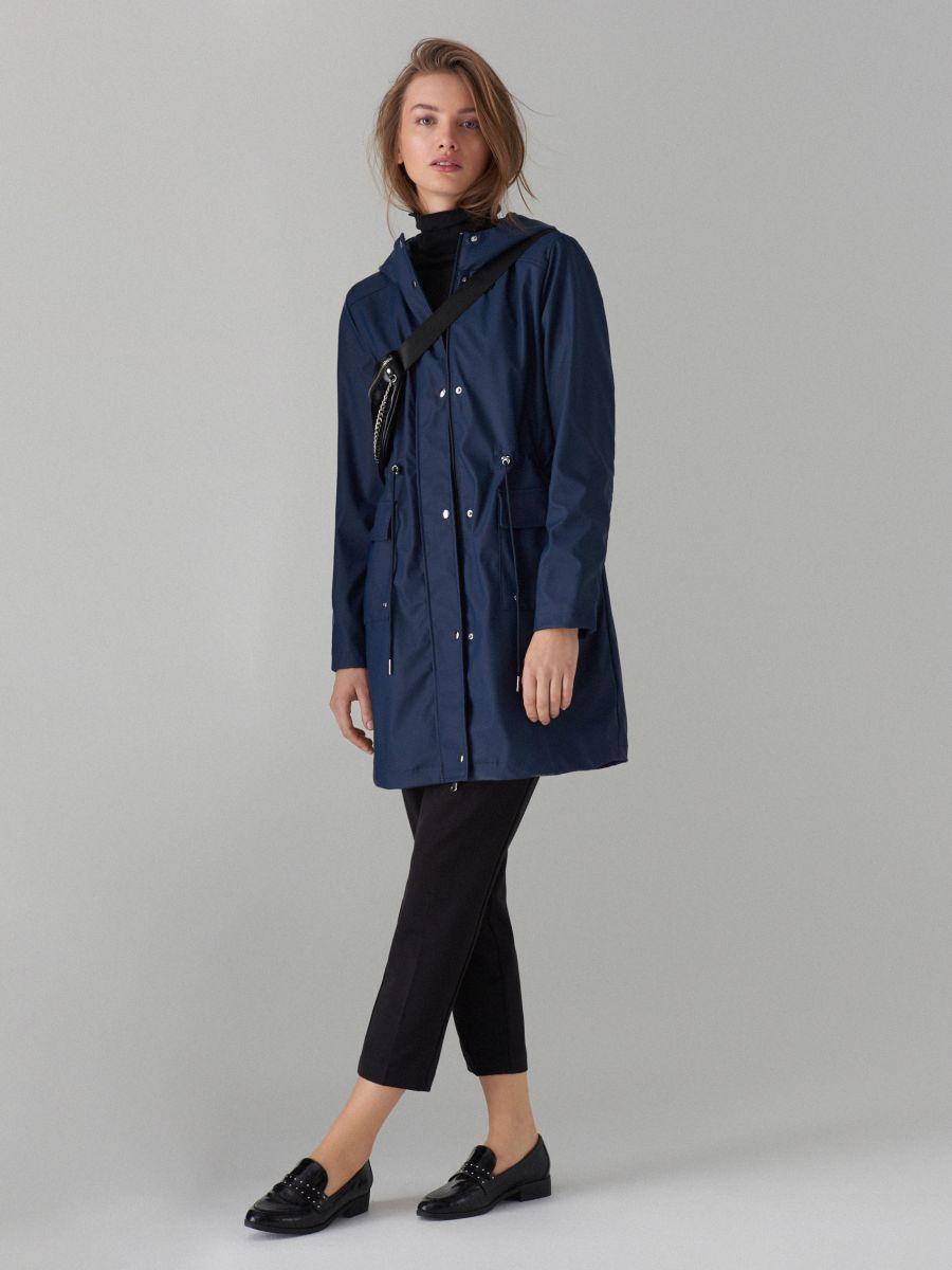 Plāna parkas tipa jaka ar kapuci - zils - VR648-95X - Mohito - 2