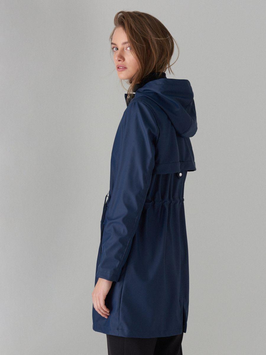 Plāna parkas tipa jaka ar kapuci - zils - VR648-95X - Mohito - 4