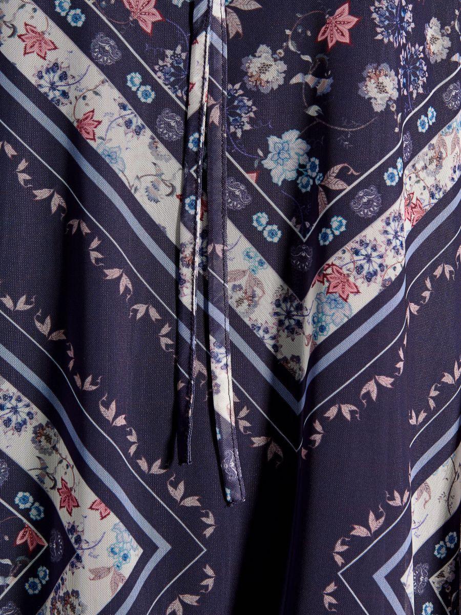 Kleita ar asimetrisku apakšu - zils - VS317-50P - Mohito - 5