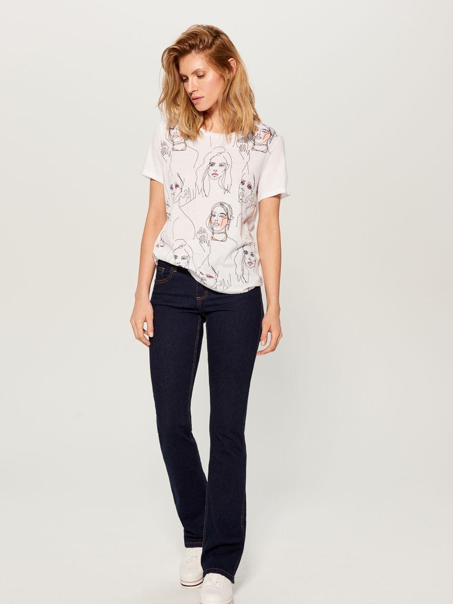 T-krekls ar mākslas apdruku - balts - VS423-00X - Mohito - 2