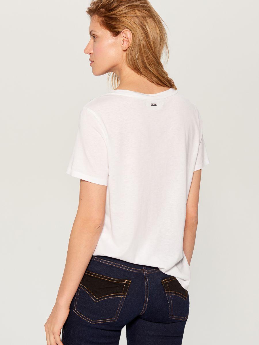 T-krekls ar mākslas apdruku - balts - VS423-00X - Mohito - 4