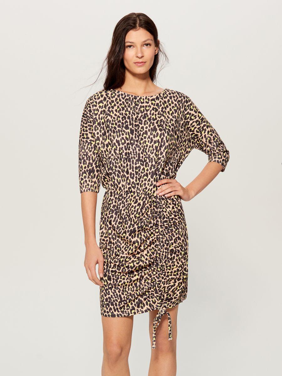 Kleita ar leoparda apdruku - brūna - VU649-83P - Mohito - 5