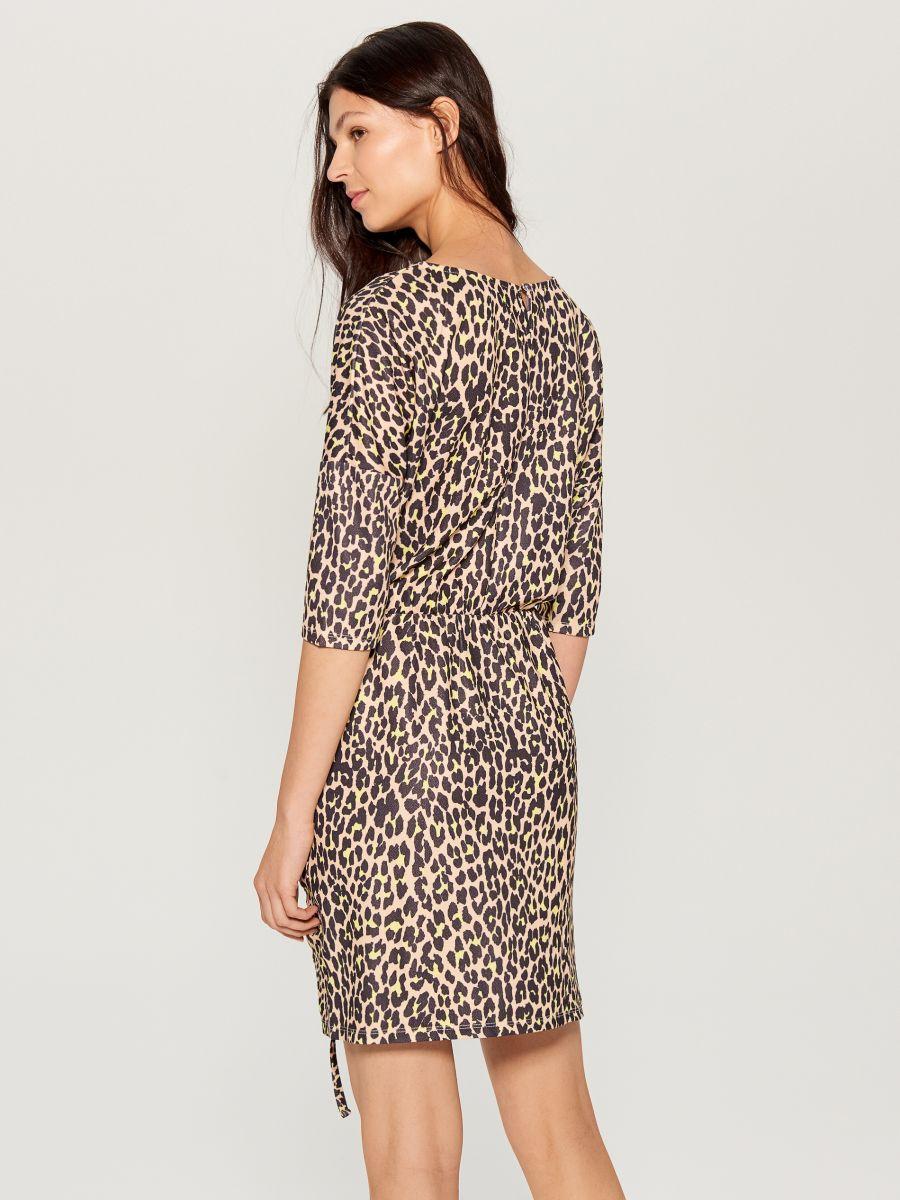 Kleita ar leoparda apdruku - brūna - VU649-83P - Mohito - 7