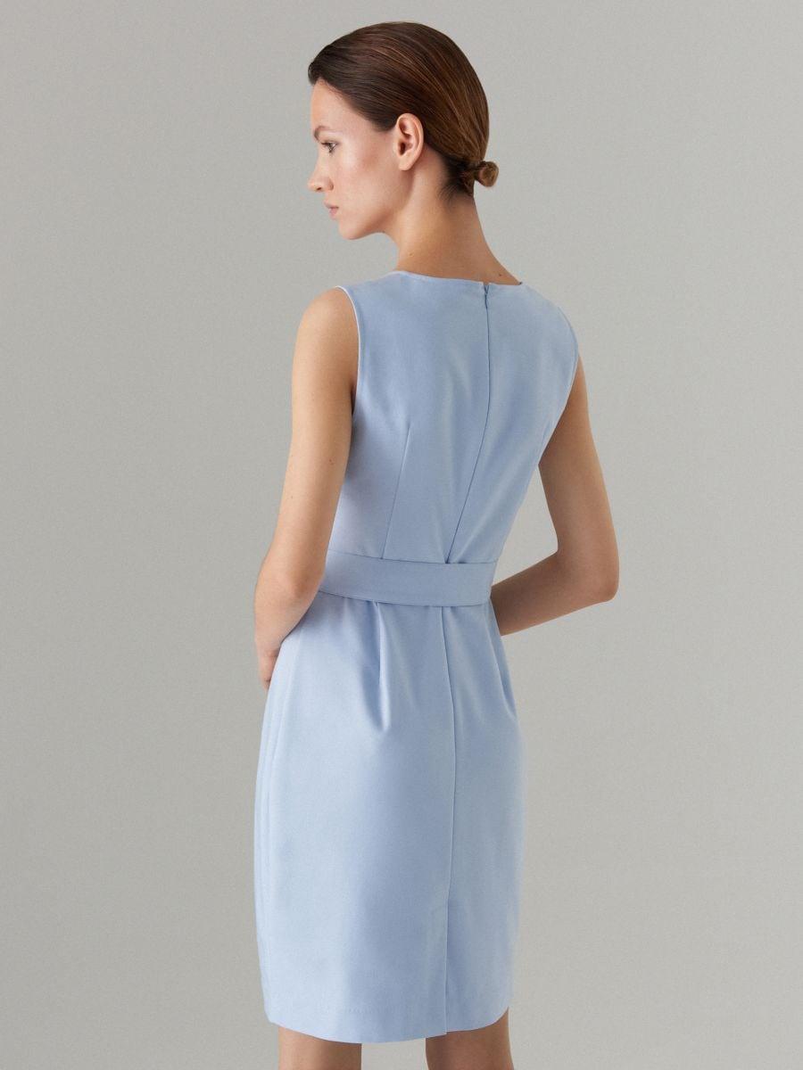 Pieguloša kleita ar jostu Celebration - zils - VU819-05X - Mohito - 4